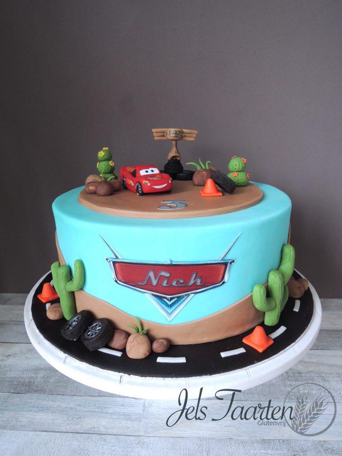 cars taart Cars taart voor Nick | JelsTaarten.nl cars taart