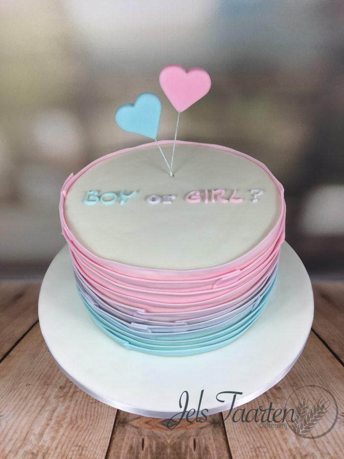 gender reveal taart   jelstaarten.nl